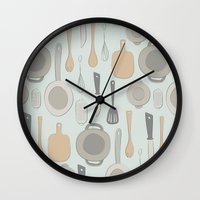 kitchen Wall Clocks featuring kitchen by La Señora