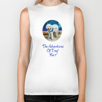 caleb troy Biker Tanks featuring The Adventures Of Troy I by Louisa Catharine Photography And Art