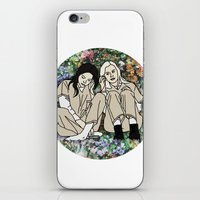 oitnb iPhone & iPod Skins featuring OITNB Floral by MODERN UNDERGROUND