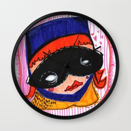 Batgirl in Love Wall Clock