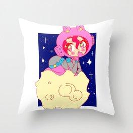 Space Bun Bun Throw Pillow