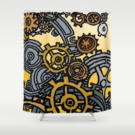 QUARTER TO FOUR Shower Curtain