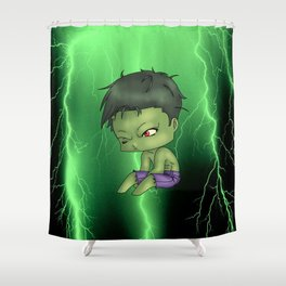 Chibi Hulk Shower Curtain
