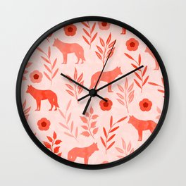 Forest Animal and Nature II Wall Clock