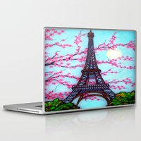 eiffel tower Laptop & iPad Skins featuring Eiffel Tower by ArtLovePassion
