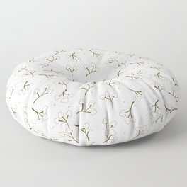 Minimalistic print with cotton. Floor Pillow