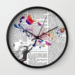 Nature's comeback graffiti Wall Clock