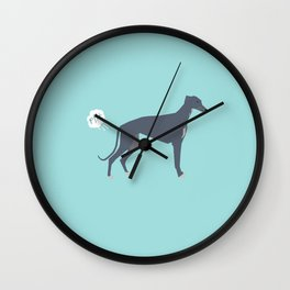 Greyhound farting dog cute funny dog gifts pure breed dogs Wall Clock