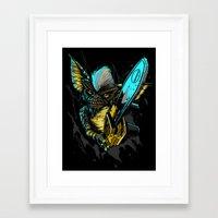 gremlins Framed Art Prints featuring Stripe Gremlins by FrightRags