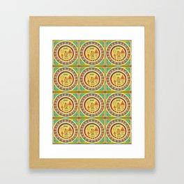 Hieroglyphic Framed Art Print