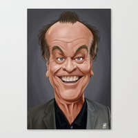 jack nicholson Canvas Prints featuring Celebrity Sunday ~ Jack Nicholson by rob art | illustration