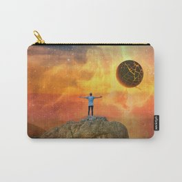 The End, Sci Fi Art, Home Decor, Scenic Wall Art, Printable Artwork, Digital Print, Fantasy Carry-All Pouch