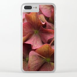 Hydrangea Flowers Clear iPhone Case
