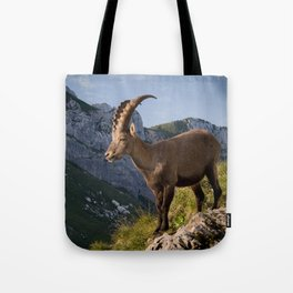 Capricorn in the Alps Tote Bag