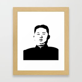 Kim Jong Un Stencil Framed Art Print