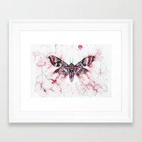 moth Framed Art Prints featuring Moth by Nika Akin
