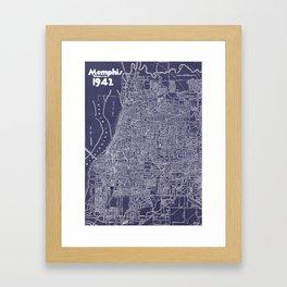 Memphis 1942 in Blue Framed Art Print