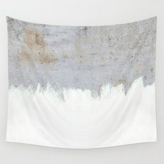 Painting on Raw Concrete Wall Tapestry