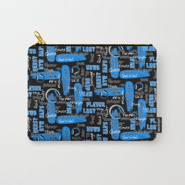 Gamer Lingo-Black and Blue Carry-All Pouch