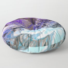 In Sunlight, Lilac and Blue Floor Pillow