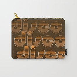 Metallic Seventies Disco Emblem Carry-All Pouch