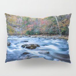 Fall in the Smokies - Autumn Colors at Laurel Creek in Smoky Mountains Pillow Sham
