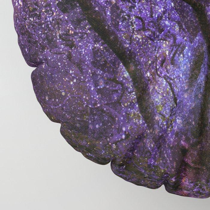 Mystic Tree of Knowledge Purple Floor Pillow