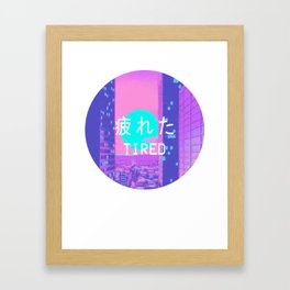 Tired Vaporwave Aesthetic hypnotic Style Gift Sad Vaporwave Design Framed Art Print