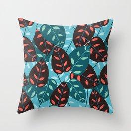 Itsuki colorful leaves print Throw Pillow