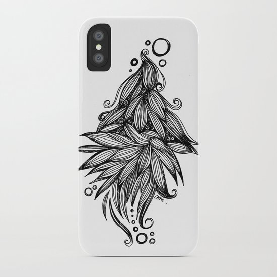 Ornate tangle wave form iPhone Case