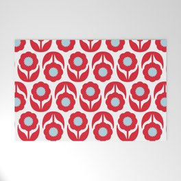Joy collection - Red flowers Welcome Mat