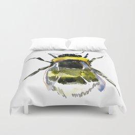 Bumblebee, bee artwork, bee design minimalist honey making design Duvet Cover