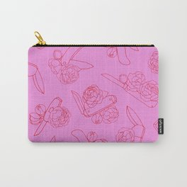 Peonies and Switchblades Carry-All Pouch