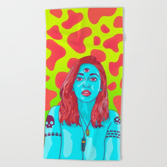 A HIGHER STATE OF CONSCIOUSNESS Beach Towel