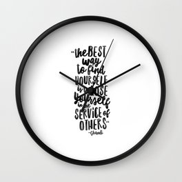 FIND YOURSELF - Ghandi Wall Clock