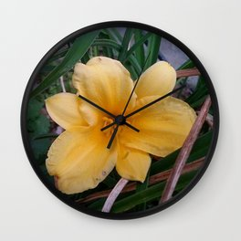 Yellow 6 Wall Clock
