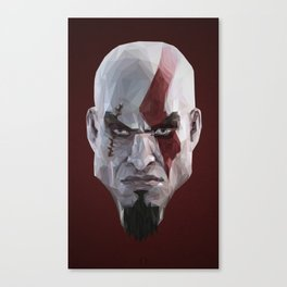 Triangles Video Games Heroes - Kratos Canvas Print