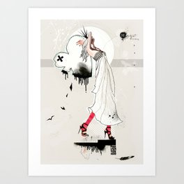 Your love is too heavy Art Print