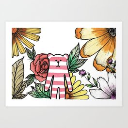 Craftholic & Flowers Art Print