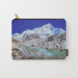 Mount Nuptse view and Mountain landscape view in Sagarmatha National Park, Nepal Himalaya. Carry-All Pouch