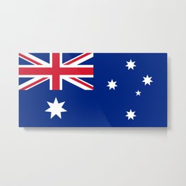 The National flag of Australia, authentic version (color & scale 1:2) Metal Print