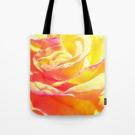 Love and Peace Pastel Rose Tote Bag