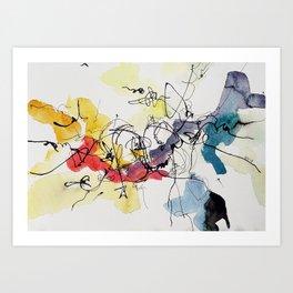 Lighting Slopes Art Print