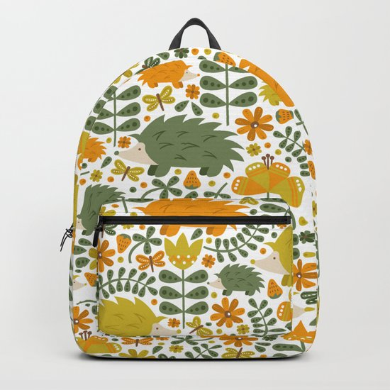 Autumn Hedgehog Forest Backpack