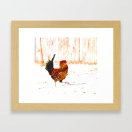 The Marching Rooster Framed Art Print