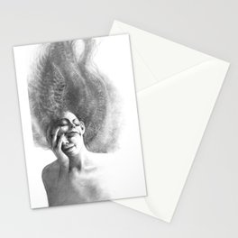 Masks by Iris Compiet Stationery Cards
