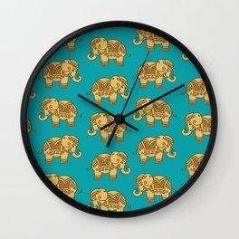 Elephant Pattern Wall Clock