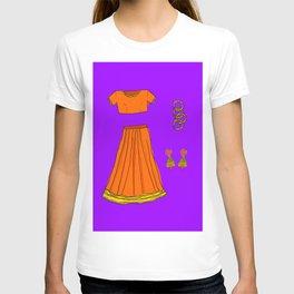 Her sari T-shirt