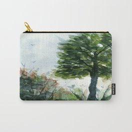 A Lovely Day, Abstract Landscape Art Carry-All Pouch