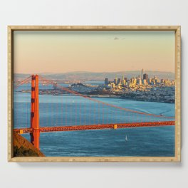 San Francisco with Golden Gate Serving Tray
